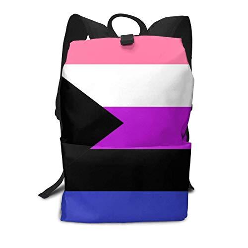 Homebe Demisexual Demi Sexual Genderfluid Pride Flag Zaino,Borse Scuola,Zaino per la Scuola School...