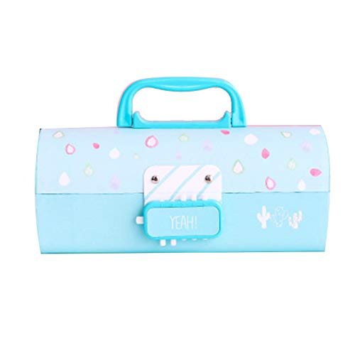 Glomixs Pen Box,Multi-Function Pencil 3 Layer Pen Box Large Capacity Pencil Stationery Box for Girl...