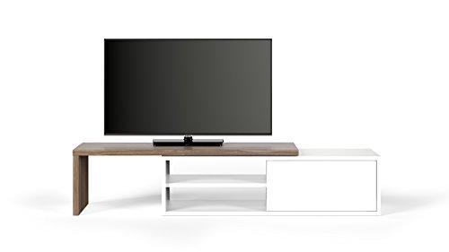 TemaHome Move Mobile Porta TV, Noce e Bianco, 110 x 35.4 x 32 cm