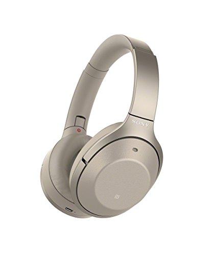 Sony WH1000XM2 - Auriculares de Diadema inalámbricos (Hi-Res Audio, cancelación de Ruido, Sense Engine, Bluetooth, Compatible con aplicación Headphones Connect, 30 Horas de autonomía) Beige