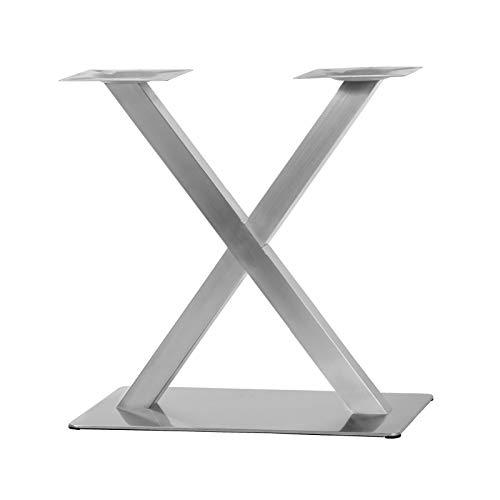 """Tischgestell Modell\""""X\"""" aus Edelstahl Untergestell Tischfuß Bistrotisch Gastro Tisch"""