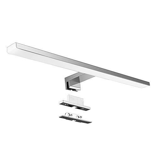 Luce da Specchio a LED in Acciaio Inossidabile/Aourow Lampada da Specchio per Bagno 10W 820lm 50cm...