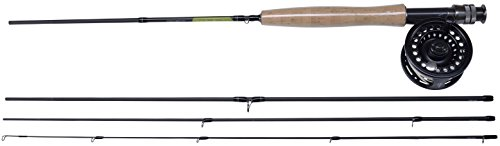 SHAKESPEARE Sigma - Canna da Pesca a Mosca e Mulinello, 4 Pezzi, Unisex - Adulto, 641-1381038, Grigio, 304,8 cm