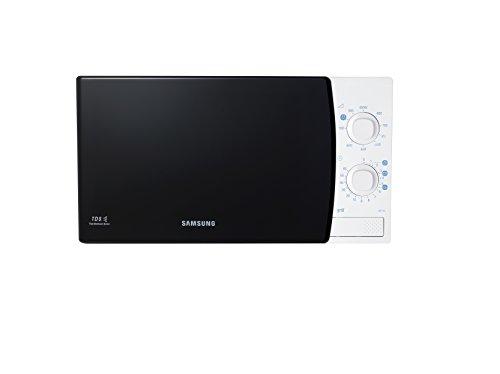 Samsung Ge711K/Xec – Microondas con grill de 20 L, interior de cerámica, 1100 W, color negro y blanco