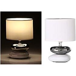 dcasa - Lámpara para mesita de noche oriental blanca de cerámica para dormitorio Fantasy