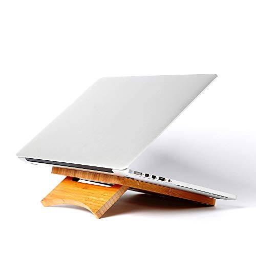 YYWENPF Notebook da 11 Pollici a 15.6 Pollici in Legno per Laptop Supporto da scrivania per MacBook...