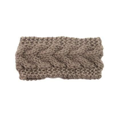 El Regalo's 1 PC Kids Knitting Headbands Turban Head Wrap/Hair Band/Unisex Kids Ear Warmer for Girls & Boys (Brown)