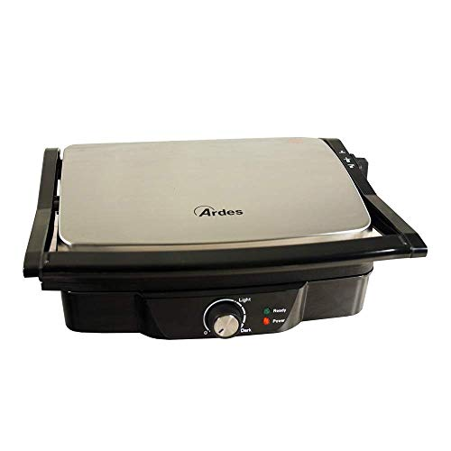 Ardes AR1S10 Sandwich / Panini Maker 2 Fette SFIZIO ECO Piastre Rigate Antiaderenti Griglia...