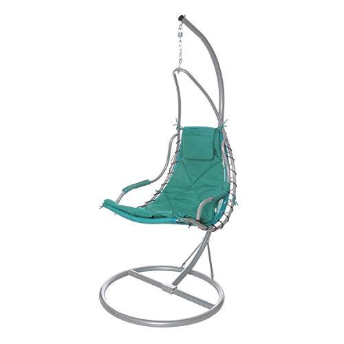Dondolo con seduta oscillante sospesa, con braccio in metallo, da 197X115 cm