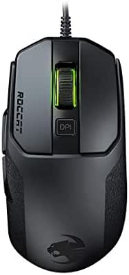 Roccat Kain 100 AIMO RGB Gaming Maus (8.500 Dpi Pro-Optic R8, 89G leicht, Titan Click Technologie) Schwarz
