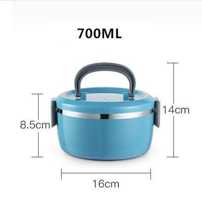 UJNCIKFNK Bento Box Isolato in Acciaio Inox Pranzo Scatola Portatile Multistrato A Grande capacità...