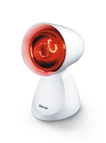 Beurer IL-11 - Lámpara infrarrojos compact, 100 W, 5 niveles inclinación, color blanco