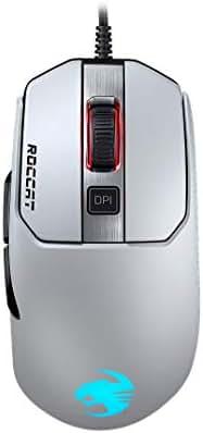 Roccat Kain 122 AIMO RGB Gaming Maus (16.000 Dpi Owl-Eye Sensor, 89G leicht, Titan Click Technologie) Weiß