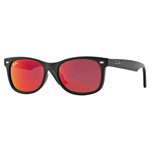 Ray-Ban UV Protected Square Unisex Sunglasses - (0RJ9052S100S6Q47|47|Red Multilayer Color)