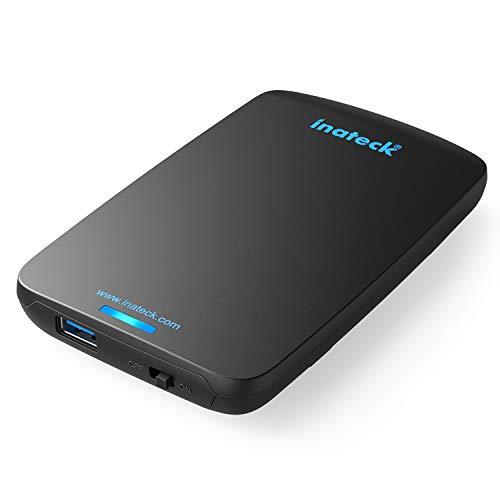 Inateck Case Esterno Ottimizzato per Disco Rigido 2.5, Hard Disk e SSD SATA da 2.5 Pollici (9,5 mm e...
