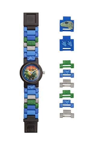 Orologio componibile da polso per bambini LEGO Jurassic World 8021285 con cinturino a maglie e...