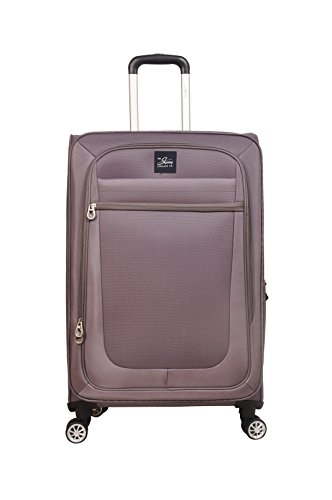 SKYWAY USA - Langford - Ultra Lightweight | Ergonomic Polyester | Carry on 4 Wheel Spinner | Expandable Bag (Upright, Soft Sided Suitcase with TSA Lock) (Graphite, 26 inch Grey)