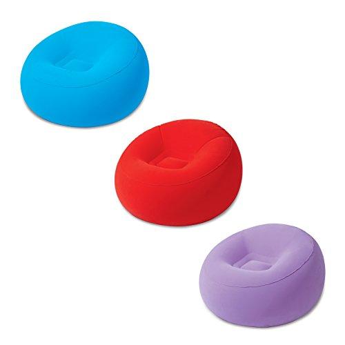 Bestway 75052 - Inflate-A-Chair Seggiolino Gonfiabile, colori assortiti