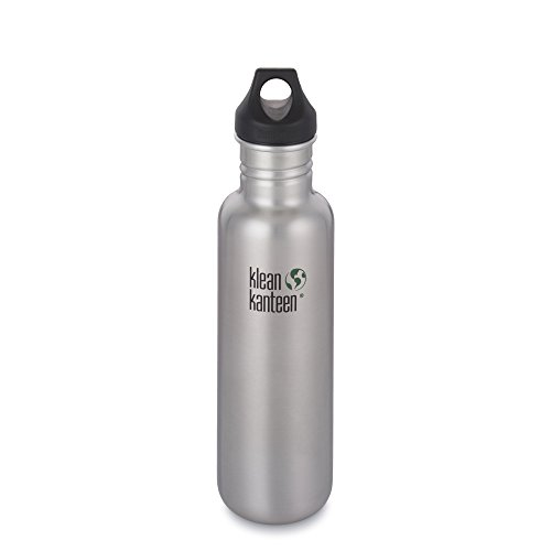 Klean Kanteen Classic Bottiglia di acciaio inossidabile con tappo loop, argento, 800 ml