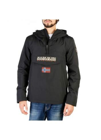 NAPAPIJRI Rainforest M Sum 1 Giacca, Nero (Black 041), Large Uomo