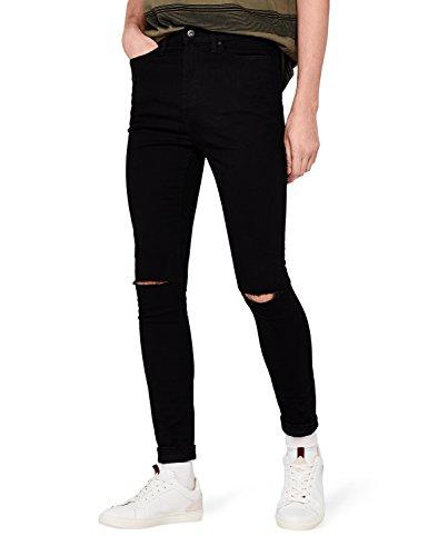 find. Jeans Super Skinny Uomo, Nero (Black), W44/L32