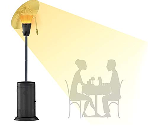 The heat focus has been proved to increase heat around a garden table by up to 300% compared with models without this feature. Additionally, the aluminium made reflector is extra wide to provide burner protection against the wind too.
