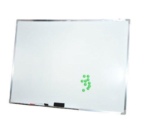 HOMCOM Lavagna magnetica 110 x 80cm con telaio in alluminio compresi magnetini e pennarello...