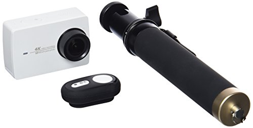 Yi 4K Wi-Fi HD 5,6cm LCD DVR set 2sport Action Camera con selfie stick e telecomando Bluetooth -