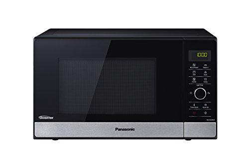 Panasonic NN-GD38HSSUG Forno a Microonde, 1000 W, 23 Litri, Nero, Banda Frontale Silver