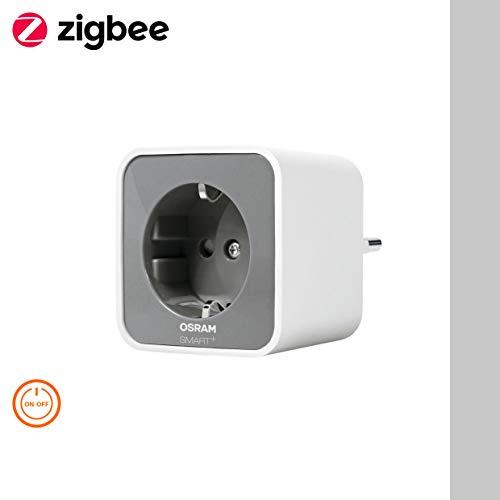 OSRAM Smart+ Plug, ZigBee schaltbare Steckdose, für die Lichtsteuerung in Ihrem Smart Home, Direkt kompatibel mit Echo Plus und Echo Show (2. Gen.), Kompatibel mit Philips Hue Bridge
