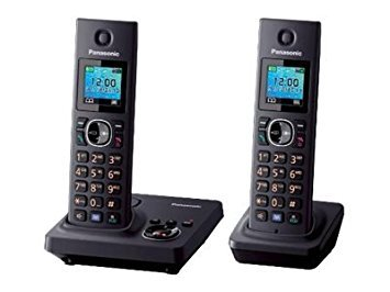 1.5-inch TFT Display Cordless Telephone with Answering Machine (Black)