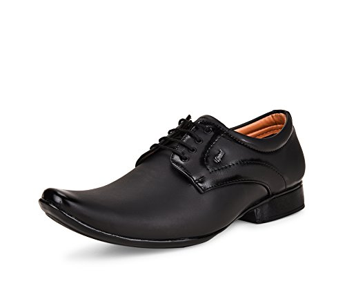 ESSENCE Men's Black Formal Synthetic Lace-Up Shoes [Size: 9]