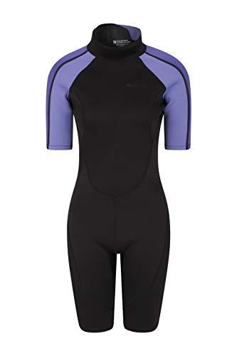 Mountain Warehouse Traje de Neopreno para Mujer Shorty - De baño, de Surf, con Cremallera Easy Glide, Tirador extendido, Costuras Planas - Ideal para Buceo, natación Morado M