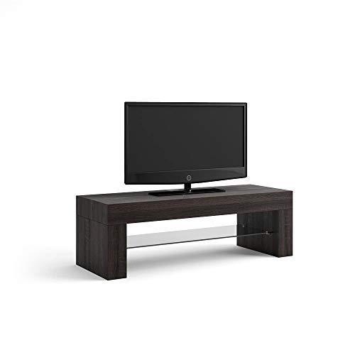 Mobili Fiver Evo Mobile Porta TV, Legno, Rovere Moro, 112x40x36 cm