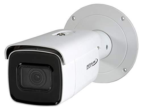 Infralan Bullet - Telecamera Esterna IP 8MP 4K, Poe, DC12V, IR-LED, 120dB