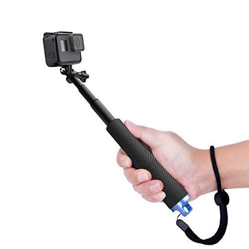 Luxebell Selfie Stick Telescopico in Alluminio, per Gopro Hero 7 6 5, Session 5, Hero 4/3+/3/2