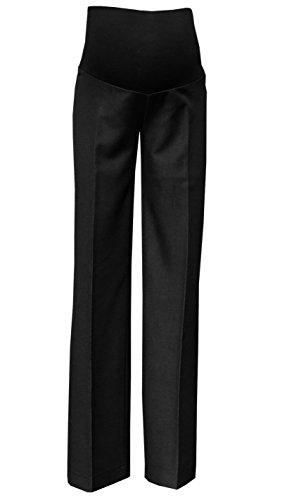 Mija - Elegante Schwangerschaftshose UmstandsHose mit Bauchband 1011A (M / 38 / Schrittlänge 85cm, Schwarz)