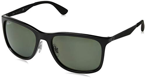 Rayban Polarized Square Men's Sunglasses - (8053672966336|57|Green Color Lens)