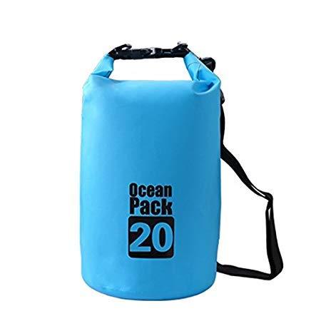 Vepson PVC 20 L Waterproof Ocean Pack Dry Sack Storage Bag Organizer (Green)