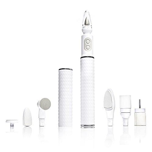 Fancii Set di Pedicuree Manicure 7-in-1, Lima Elettrica per Unghie Professionale con Luce LED -...