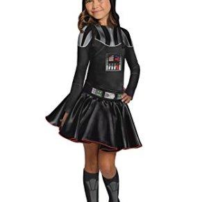 Rubies Disfraz de Darth Vader para niñas de Star Wars, Libro de películas, día de la Semana, Disfraz para niños – Grandes Edades 8 – 10