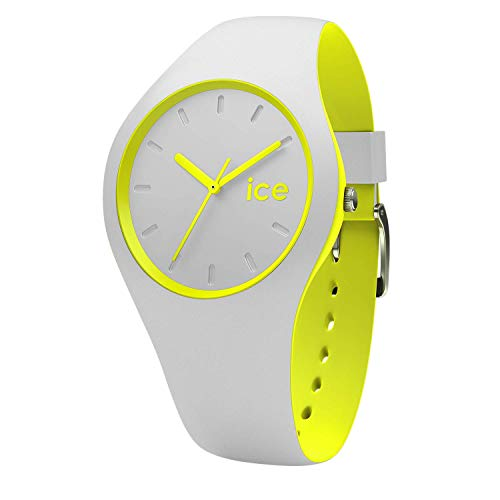 Ice-Watch - ICE duo Grey Yellow - Reloj grigio para Hombre (Unisex) con Correa de silicona - 001500 (Medium)