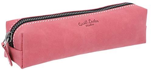 Astuccio Gusti Pelle studio Addison portapenne in vera pelle rosa fucsia