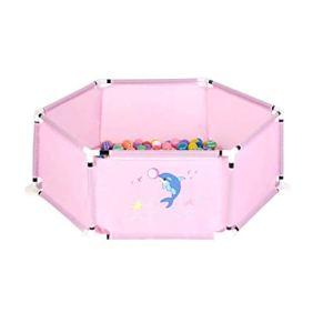 JLL Niños Playpen Hexagon Polka Dot Baby Playard Interior y Exterior Fácil Tienda Plegable con Alfombra de Arrastre