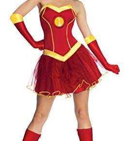 Rubies Disfraz Oficial de Marvel Miss Iron Man Resue para Adultos, Talla Grande de 16 a 18