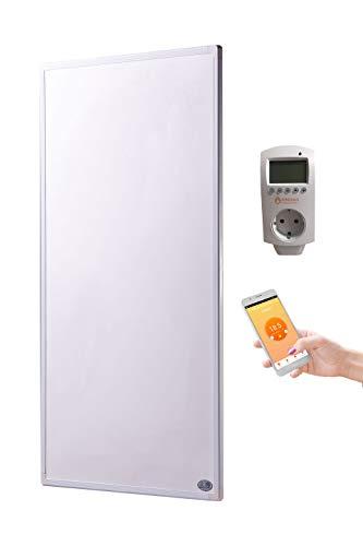 Könighaus Fern Infrarotheizung + Thermostat und App mit Smart Home Lösung Temperatur und Programmierung über Handy app steuerbar ✓GS Tüv (1000 Watt)