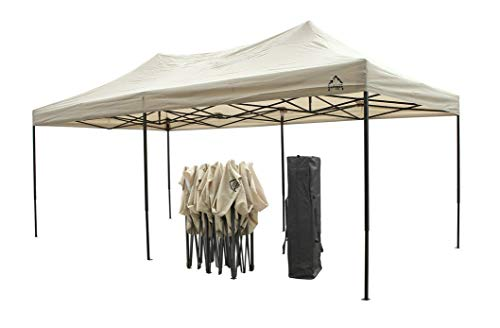 Another nifty feature is the 3 height settings that can be tweaked to suit your event needs whether for kids or adults. The gazebo's general height is 3.2m and the maximum headroom you can get is 2.06m. The corners of the gazebo have been reinforced by extra fabric to prevent the metallic ends from tearing the fabric.