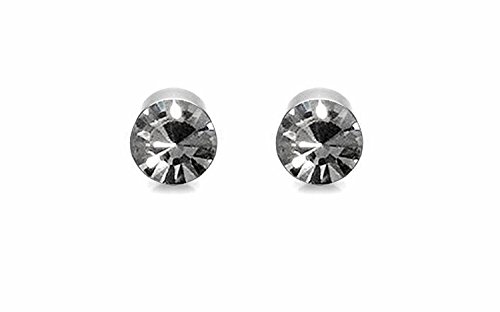 WellPoint Unisex Craft Magnetic Earrings for Non-Pierced Ears (Silver) - Pair of 5