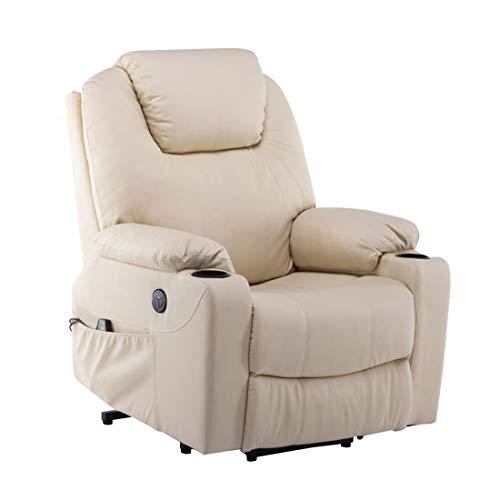 MCombo Electric Aiuto ausiliario Poltrona Relax Poltrona Massaggio Riscaldamento connessione USB Regolabile elettricamente