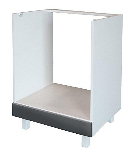 Berlenus CF6BG - Base componibile Cucina per Forno ad Incasso, da 60 cm, Colore: Grigio...